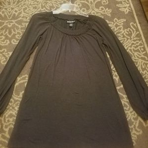 Charcoal Gray Longsleeve with belt loops size Med